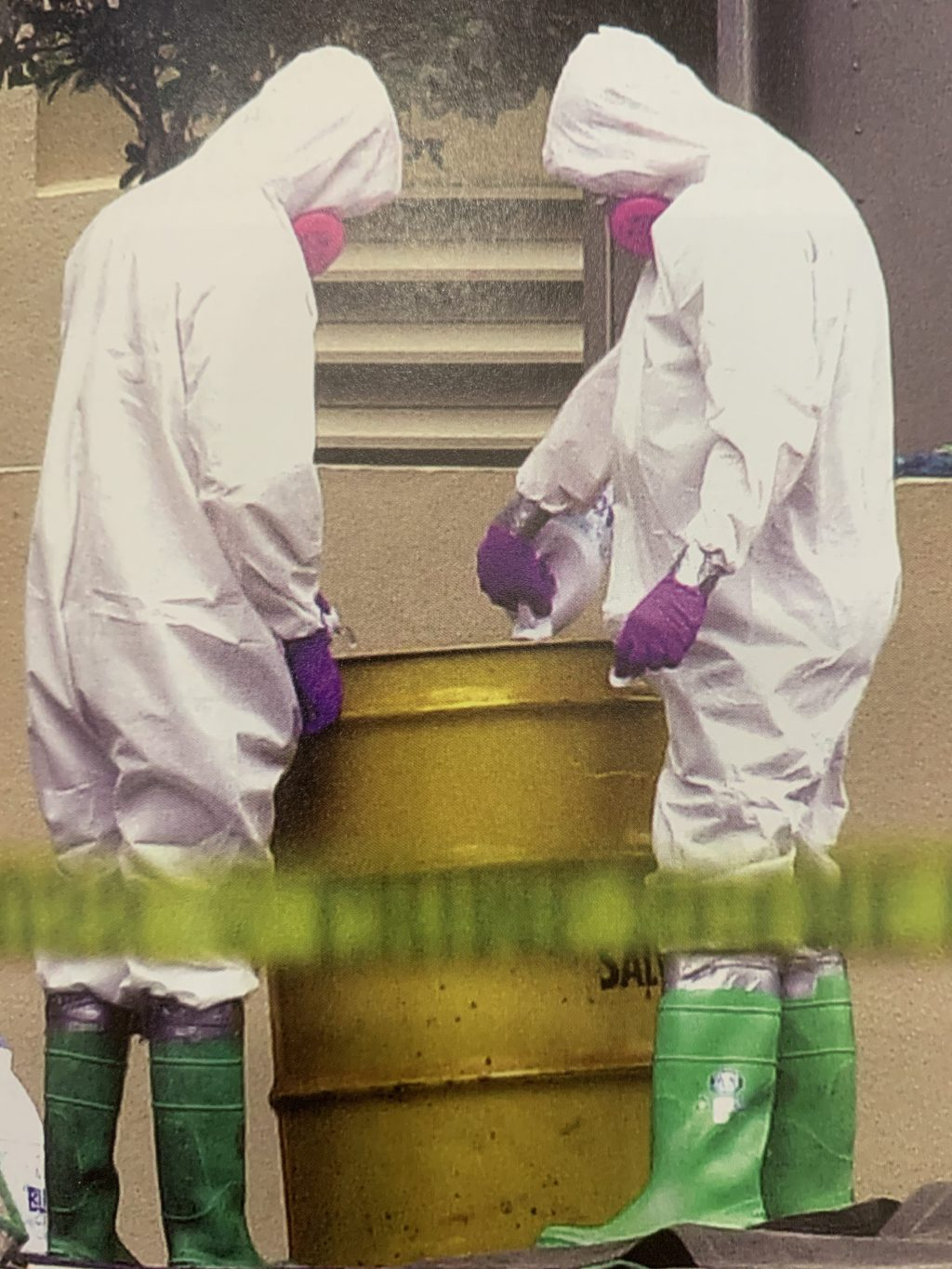 FBI agents test area for anthrax