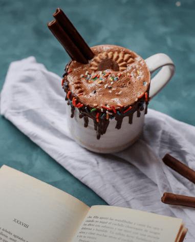 Chocolate and books = Happy