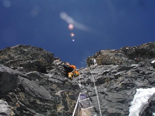 K2 climbing ladders Abruzzi Spur