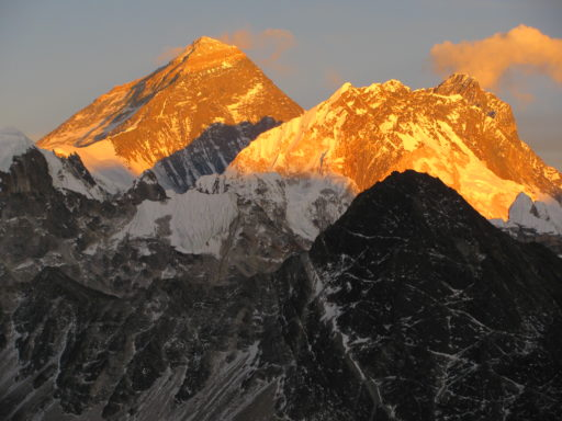 Alpine glow on Everest