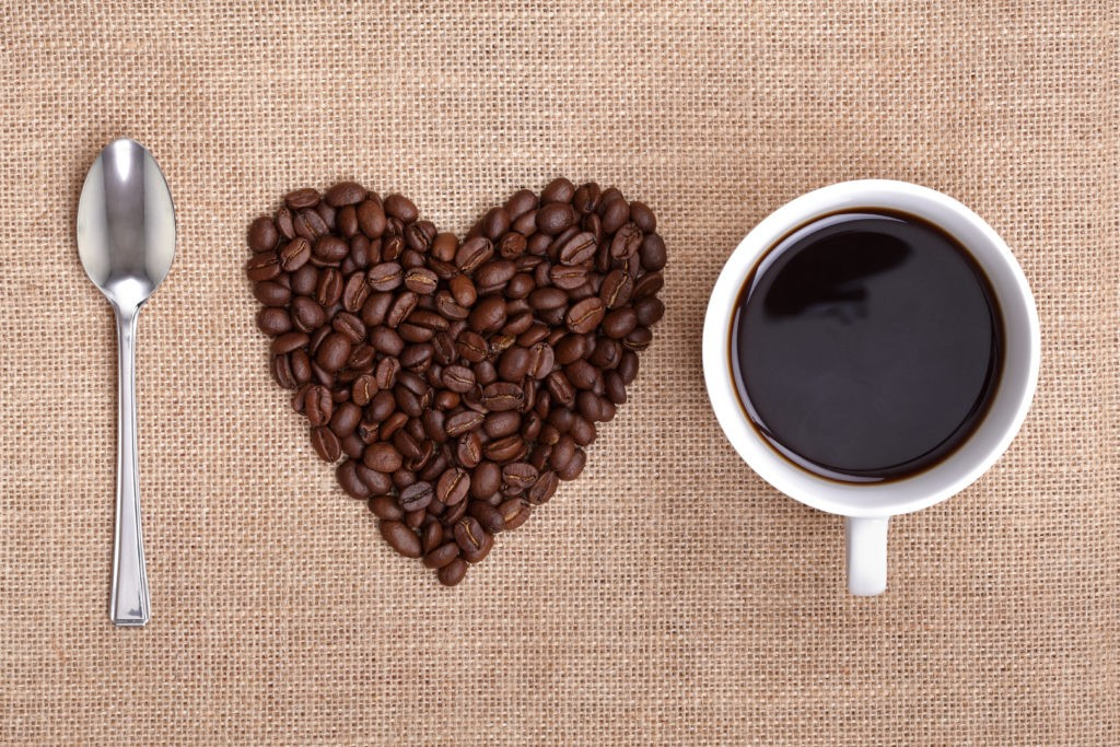 I love coffee (heart with beans)