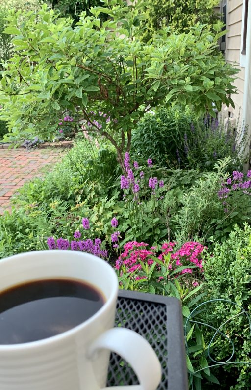 Coffee and pretty flowers