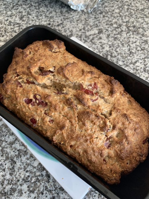 Oat flour version gluten free breakfast bread