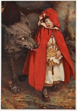 Little Red Riding Hood and a wolf
