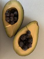 Avocado and blueberry delicious combination