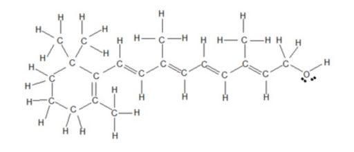 VItamin A structure Retinol